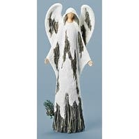 In the Birches Glittered White Angel Table Top Christmas Decoration 15.5""