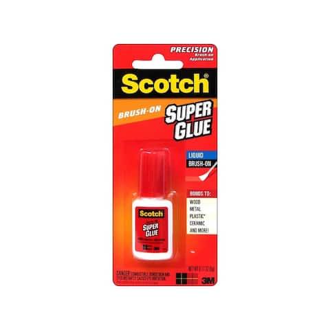 Ad127 scotch super glue liquid brush on 0 17oz