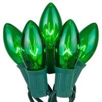 Wintergreen Lighting 67250 25 C9 7W Holiday Bulbs on Green Wire
