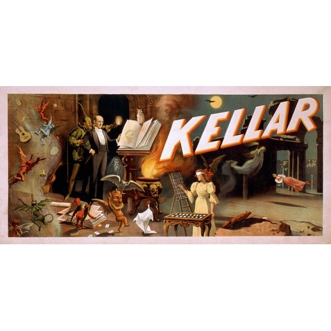 Kellar in a Room Full of Magic - Vintage Ad (Poker Playing Cards Deck)