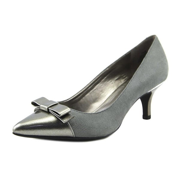 Anne Klein Flouncy Women Pointed Toe Canvas Heels