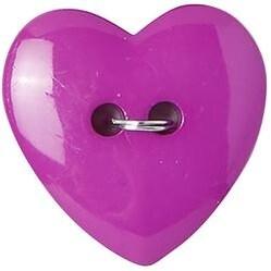 "Purple Heart 2-Hole 1"" 2/Pkg - Slimline Buttons Series Funtastics"