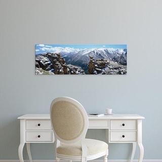 Easy Art Prints Panoramic Images's 'Snowcapped Mountain Range, Rocky Mountain National Park, Colorado' Canvas Art
