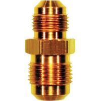 "JMF 47201 Flare Reducing Union, Yellow Brass, 5/8"" x 1/2"""