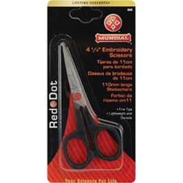"""Knife Edge - Red Dot Embroidery Scissors 4.25"""""""