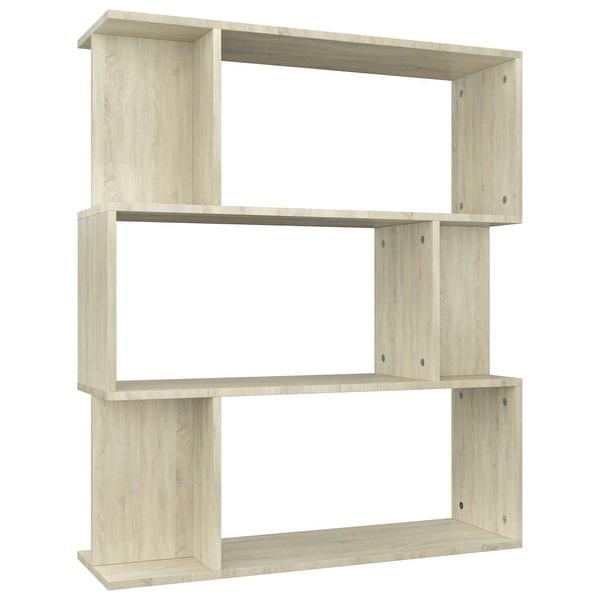 "vidaXL Book Cabinet/Room Divider Sonoma Oak 31.5""x9.4""x37.8"""