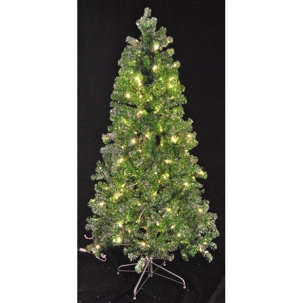 Green And White Christmas Tree: Shop Christmas At Winterland WL-TTR-06-GR/SLV-LWW 6 Foot