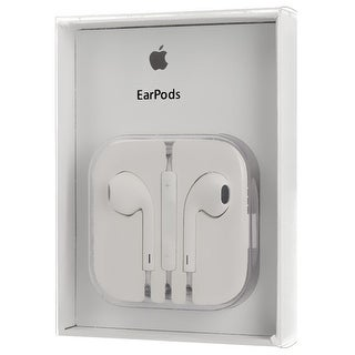 Apple Earpods Earphones for iPhone 6, 5 and 4S with Remote & Mic - MD827LL/A - Retail