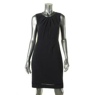 Elie Tahari Womens Rosario Pleated Sleeveless Wear to Work Dress - 4