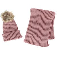 31225fb47e0 Shop CTM® Girls  Cable Knit Winter Hat with Pom - Free Shipping On ...