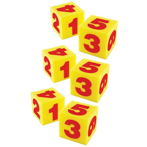 Giant Soft Numeral Cubes, 2 Per Pack, 3 Packs