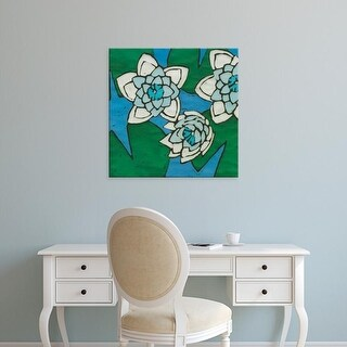 Easy Art Prints Andrea Davis's 'Turquoise Batik Botanical II' Premium Canvas Art