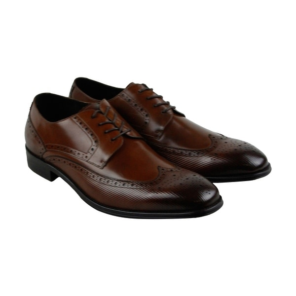 Kenneth Cole New York Design 10381 Mens Brown Casual Dress Oxfords Shoes