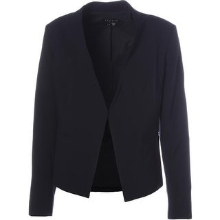 Theory Womens Lanai Wool Blend Open Front Blazer