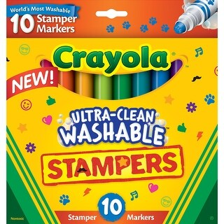 Crayola Ultra-Clean Washable Stamper Markers-Assorted 10/Pkg