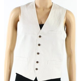 INC NEW Sandy Beige Mens Size Small S Five-Button Three-Pocket Vest