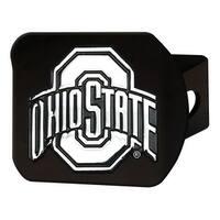 "Ohio State University Hitch Cover - Black - 3.4""x4"""