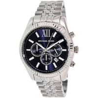 Michael Kors Men's Lexington  Silver Stainless-Steel Quartz Dress Watch