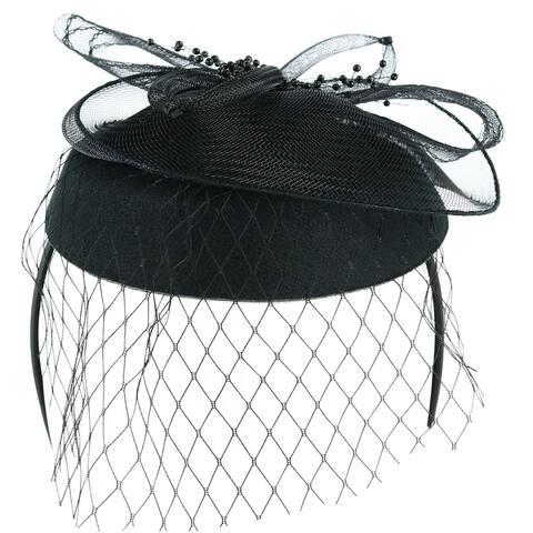 Jeanne Simmons Women's Felt and Netting Fascinator Headband