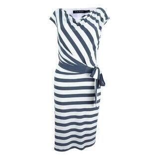 Lauren by Ralph Lauren Women's Striped Jersey Dress - steal/cream