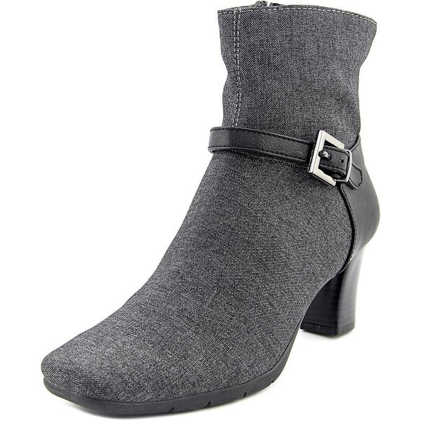 Aerosoles Harmonica Women Square Toe Canvas Gray Bootie