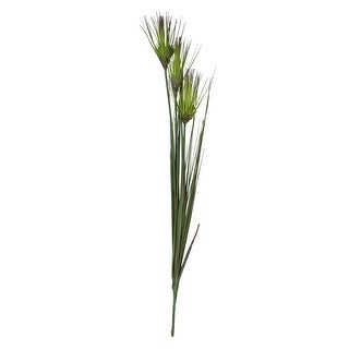 """27"""" Green and Brown Tall Blooming Artificial Grass with Buds Floral Spray"""