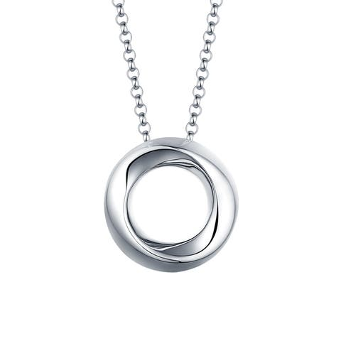 Vedantti 18k Gold Twisted Solid Open-Circle Everyday Wear Pendant with Chain