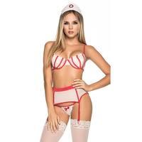 Private Care Nurse Lingerie Costume, Hoty Nurse Lingerie Costume - as shown