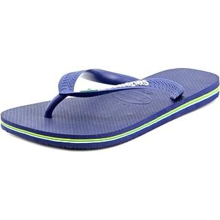 Havaianas Brasil Logo Open Toe Synthetic Flip Flop Sandal