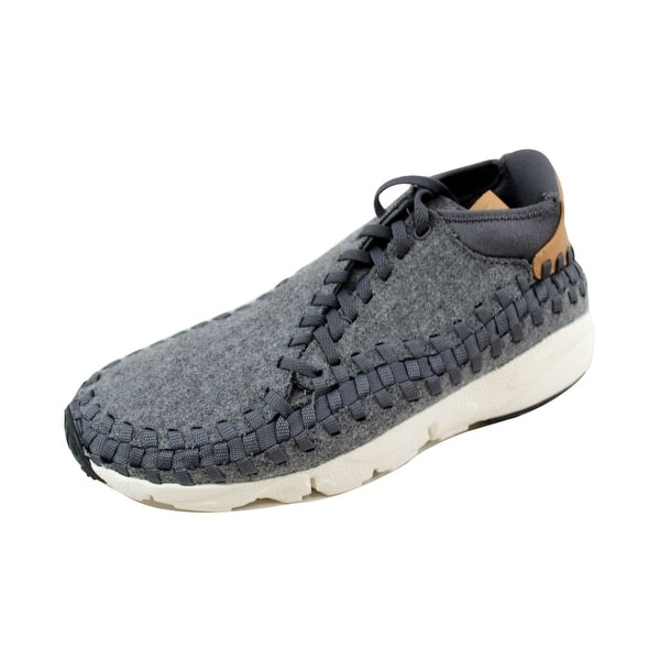 0a3fb4e47da7 Shop Nike Men s Air Footscape Woven Chukka SE Dark Grey Sail ...