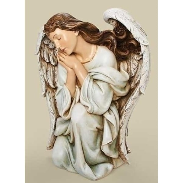 "22.5"" Joseph's Studio Religious Kneeling Angel Christmas Nativity Statue - WHITE"