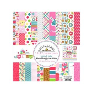 Doodlebug Cream & Sugar Paper Pack 12x12