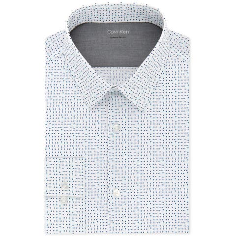 Calvin Klein Mens Extreme Slim Fit Button Up Dress Shirt
