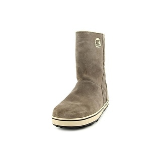 Sorel Glacy Women Round Toe Leather Gray Mid Calf Boot