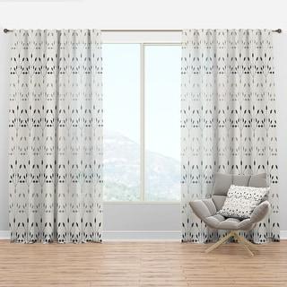 Designart Floral Retro Botanical Pattern I Mid Century Modern Curtain Panel On Sale Overstock 29625787