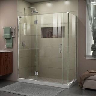 DreamLine Unidoor-X 58 in. W x 30 3/8 in. D x 72 in. H Frameless Hinged Shower Enclosure
