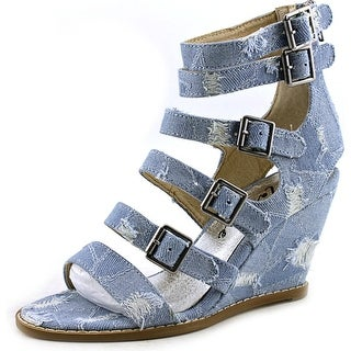 Matisse Honor Open Toe Canvas Wedge Sandal