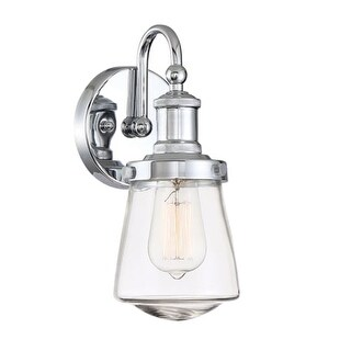 """Designers Fountain 69501 Taylor Single Light 5-1/8"""" Wide Bathroom Sconce with a"""