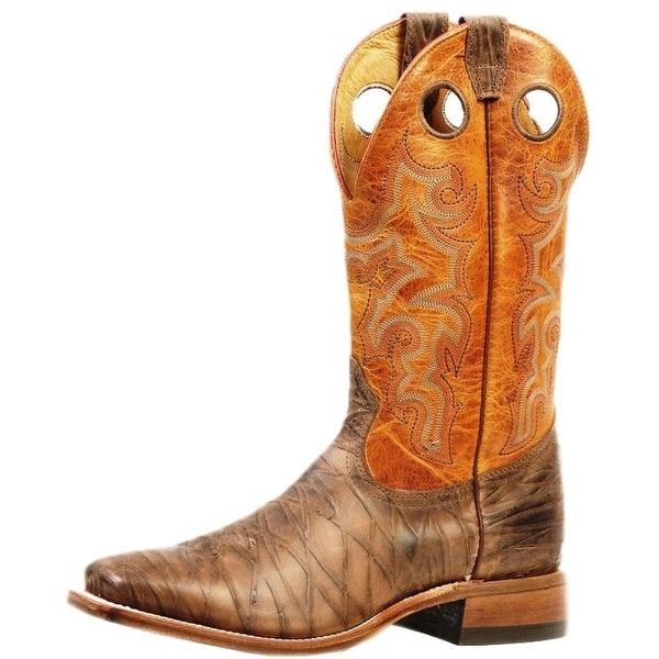 Boulet Western Boots Men Cowboy Stockman Rio Brown Delantero Piel