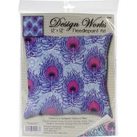 """Peacock Needlepoint Kit-12""""X12"""" Stitched In Yarn"""