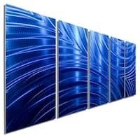 Statements2000 Blue Modern Metal Wall Art Painting by Jon Allen - Blue Synchronicity