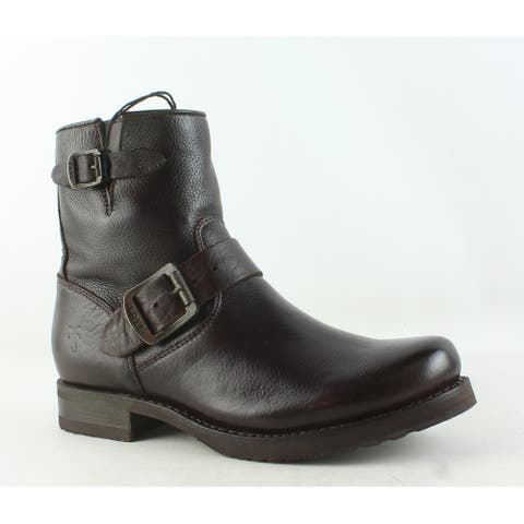 Frye Womens Veronica Dark Brown Ankle Boots Size 6