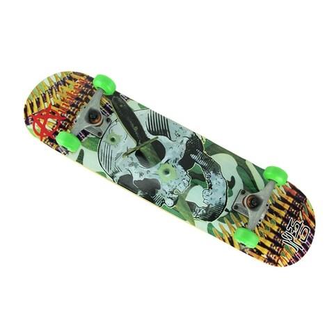 Awaken Skull Knife 7-Ply Canadian Maple Complete Skateboard - Multicolored