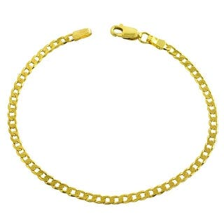 Mcs Jewelry Inc 14 Karat Yellow Gold Solid Curb Anklet Bracelet 10 Inches