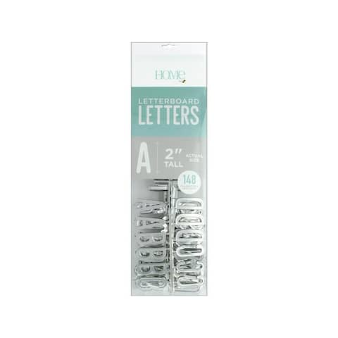 Lp-006-00020 diecuts letterboard letters 2 silver 148pc