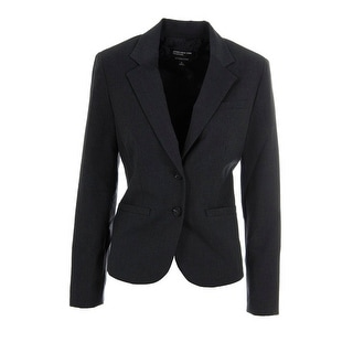 Jones New York Womens Olivia Solid Long Sleeves Two-Button Blazer