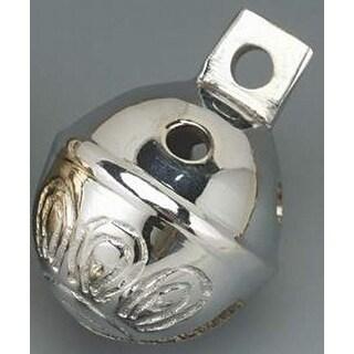 One Dozen 1.5 Inches High Sleigh Horse Jingle Polar Bells - Polished Brass & Chrome Plated Polar Bells
