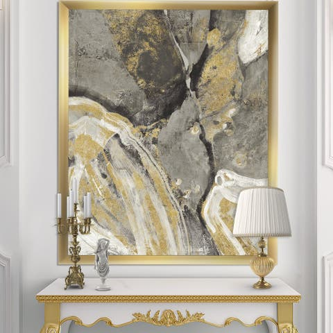 Designart 'Glam Phoenix Neutral' Modern Glam Premium Framed Art Print