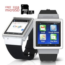 Indigi® Android 4.4 (Factory Unlocked) KitKat SmartWatch and Phone w/ WiFi + GPS + Camera w/ 32gb microSD Included