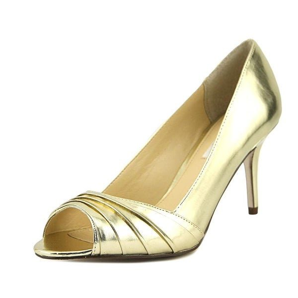 Nina Vesta Women Peep-Toe Leather Heels